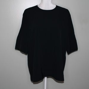 everlane women black zipper shirt  SZ 10